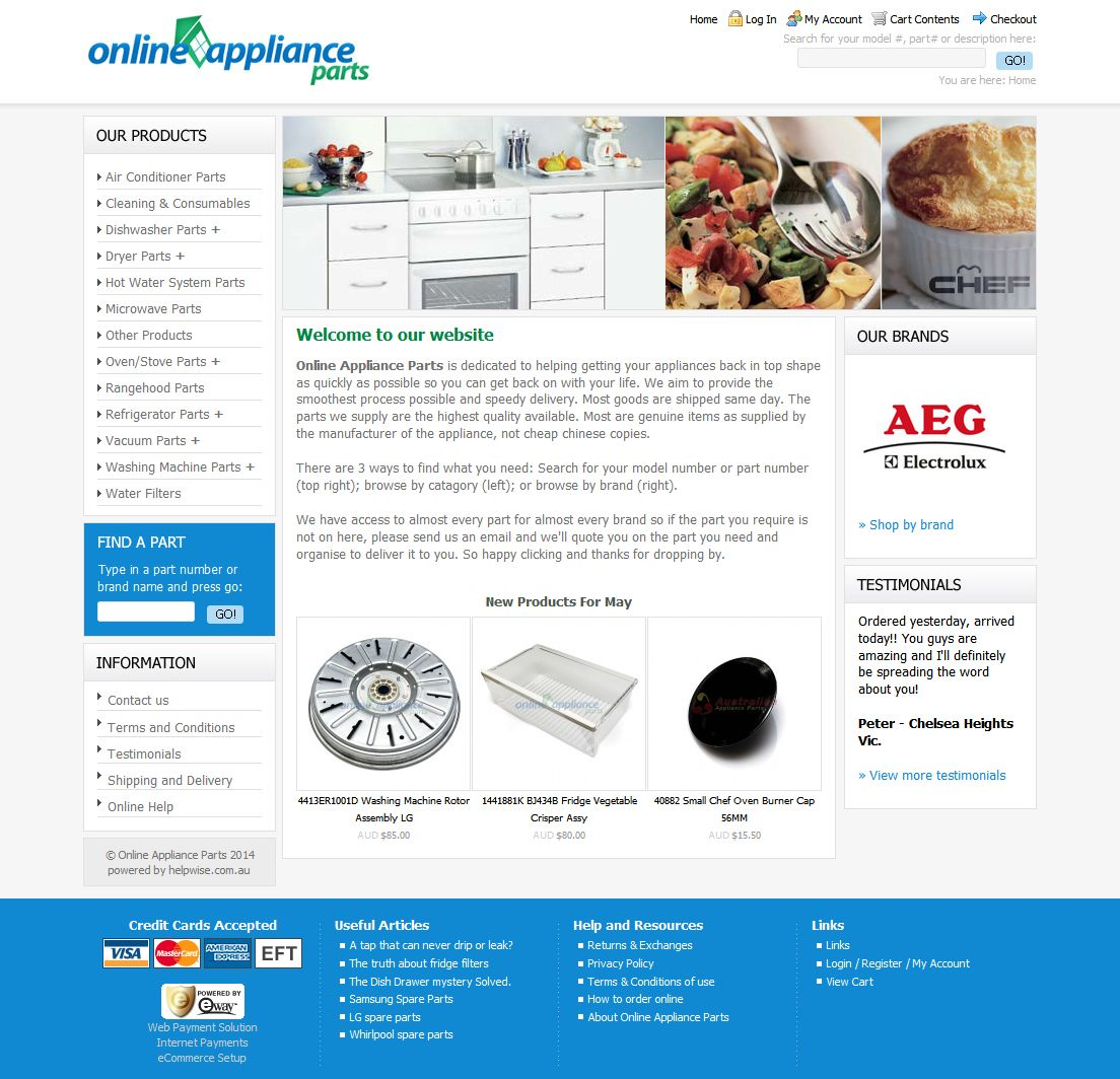 Online Appliance Parts