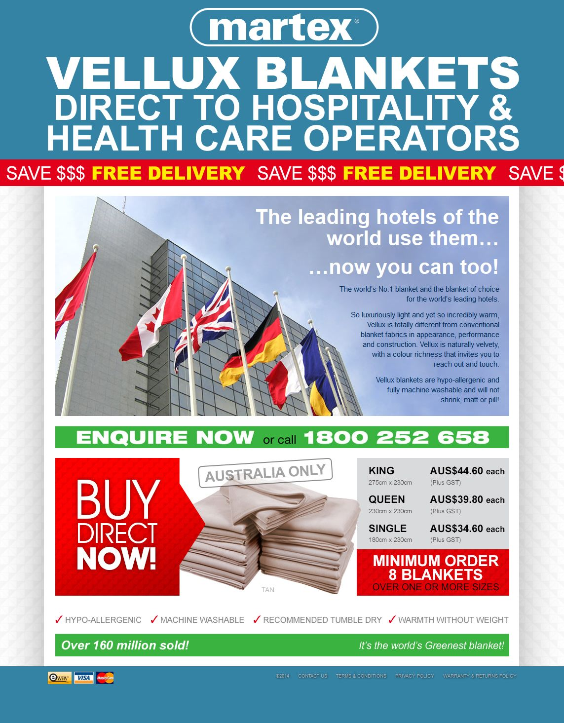 Vellux Hospitality – Quality Blankets